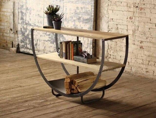 Woonkamer Houten Meubels : Loft amerikaanse land om de oude smeedijzeren houten meubels
