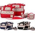 5 PCS/Set Fashion Multifunctional messenger bag Tote  baby diaper bags Mummy Bags Maternity Baby Bag 4 Models