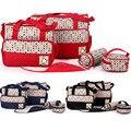 5 pçs/set moda saco do mensageiro multifuncional saco fralda sacos de múmia sacos saco do bebê de maternidade 4 modelos