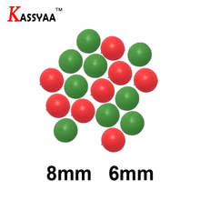 цена на KASSYAA 10pcs 50pcs 100pcs Luminous Beads Fishing Space Beans Round Floating Red Balls Fishing Lure Tackle Fishing Tools KXY053