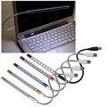 Супер мини USB 10 из светодиодов свет яркий мягкий свет гибкая USB лампы для клавиатуры читать ноутбук ноутбук настольная лампа