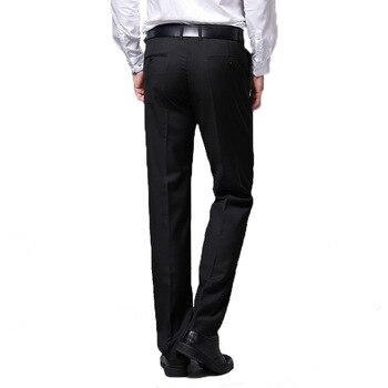 cd9506061 2019 pantalones de vestir de verano para hombre, pantalones largos de  oficina de negocios, pantalones largos, pantalones formales negros para  hombre, ...