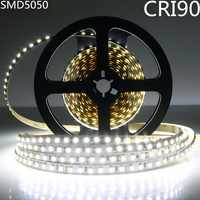 DC12V SM5050 alto CRI 90 + LED tira de luz 10MM blanco PCB cinta flexible 60 LEDs/M no impermeable alto índice de reproducción de Color