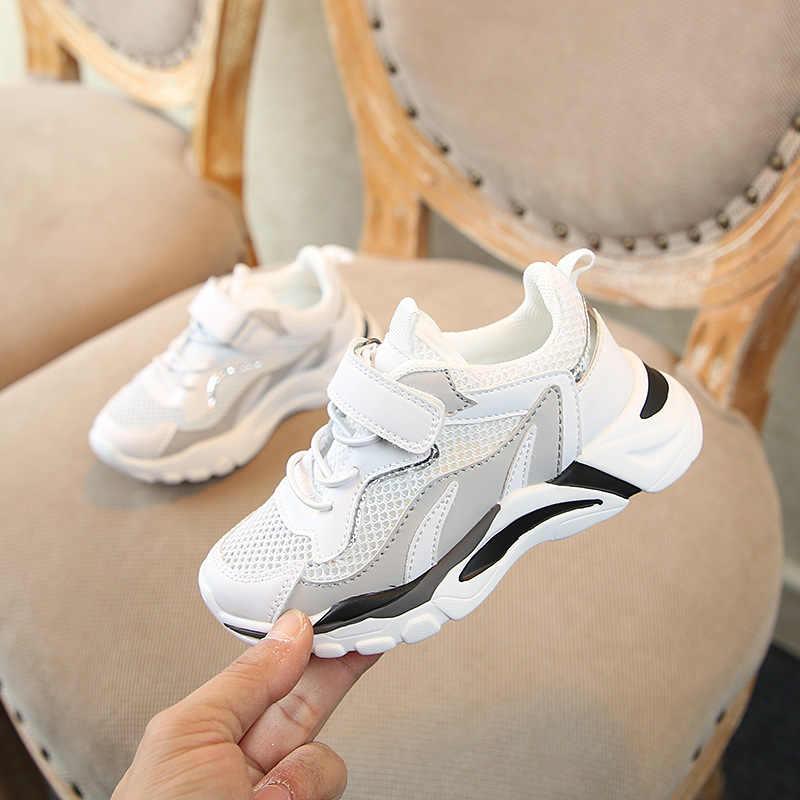 Mùa thu 2019 Mới Trẻ Em Thể Thao Giày Thể Thao Bé Gái Lưới Sneakers Trẻ Em Giày Thường Chàng Trai Vụng Sneakers Thời Trang Thương Hiệu Huấn Luyện Viên