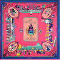 Twill Silk Scarf foulard women Paris Walk square brand scarves shawls bufandas 130 * 130cm