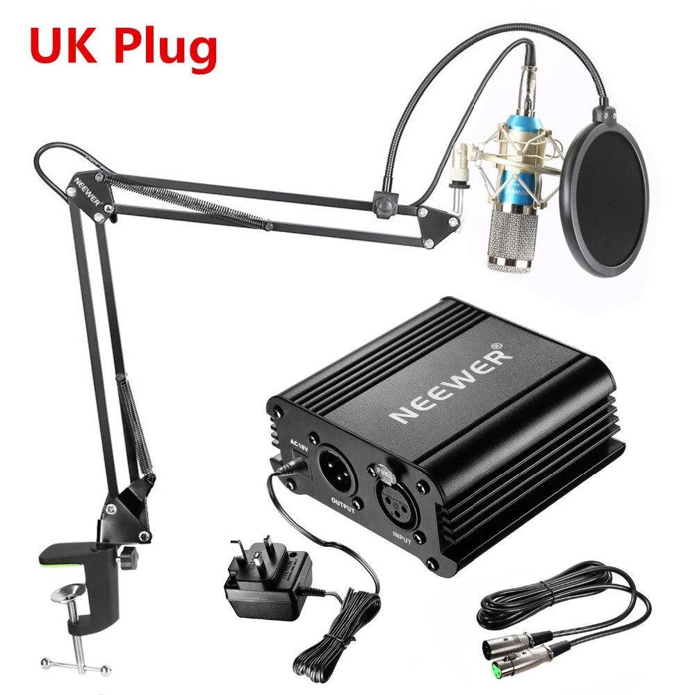 Neewer NW-800 конденсаторный микрофон комплект: В Mic + 48 В Phantom питание NW-35 стрелы Ножничные стенд с подвесом кабель