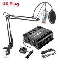Neewer NW 800 Condenser Microphone Kit Mic 48V Phantom Power Supply NW 35 Boom Scissor Arm