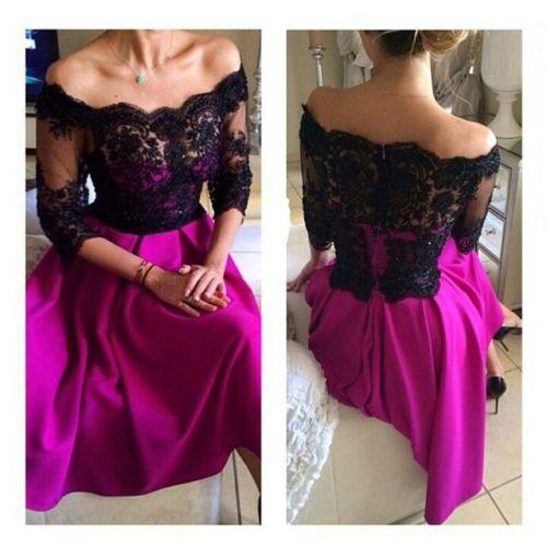 Popular Hot Pink Black Prom Dresses-Buy Cheap Hot Pink Black Prom ...