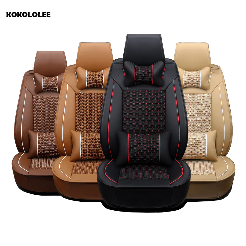 KOKOLOLEE car seat covers for Toyota Lada Renault Audi Peugeot suzuki Automobiles Seat Covers bmw opel kia car seats protector car seat covers racing for smart fortwo lada largus nissan leaf kia sorento bmw x5 e70 audi a3 8v car styling polyester cushion