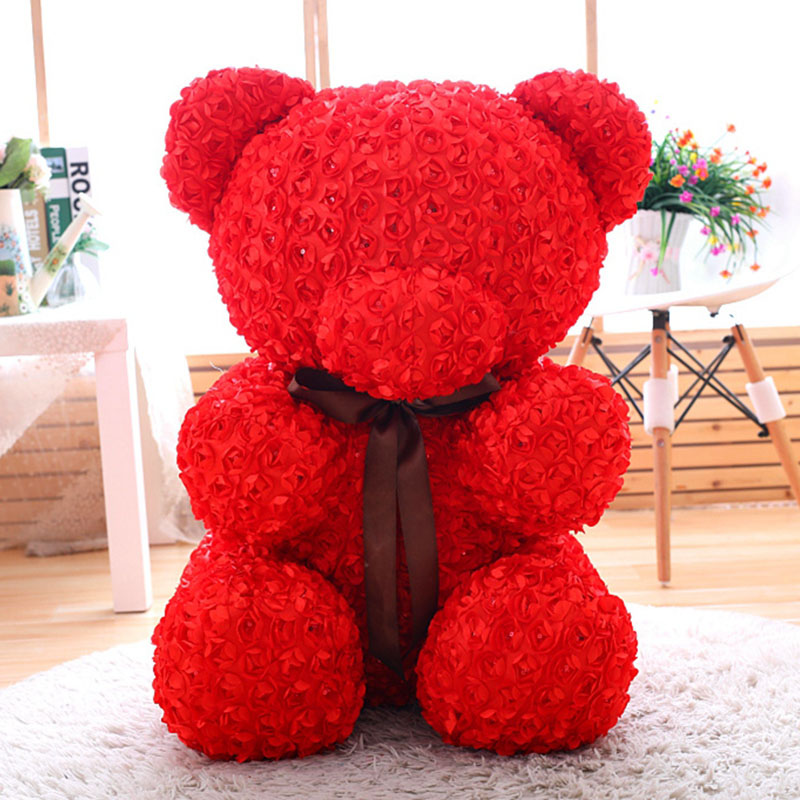 Roses Valentine S Day With Stuff Toys : Cm rose teddy bear toys stuffed soft doll valentine