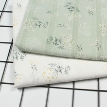 50x145cm Japan South Korea popular cotton beige green white embroidery lace fabric with DIY curtain jacket dress