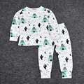 2pcs/Set 2016 Autumn Baby Clothing Set Baby Boy Cute Animal&Fruit Cotton Clothes Girls Strawberry Lemon Leisure Homewear 7 Style