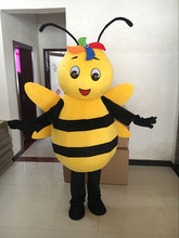 Bee Hornet Mascot Costume Yellow Bee Mascot Adult Character Costume Cosplay Apparel Wasp Bee Mascot Costume for Halloween Party