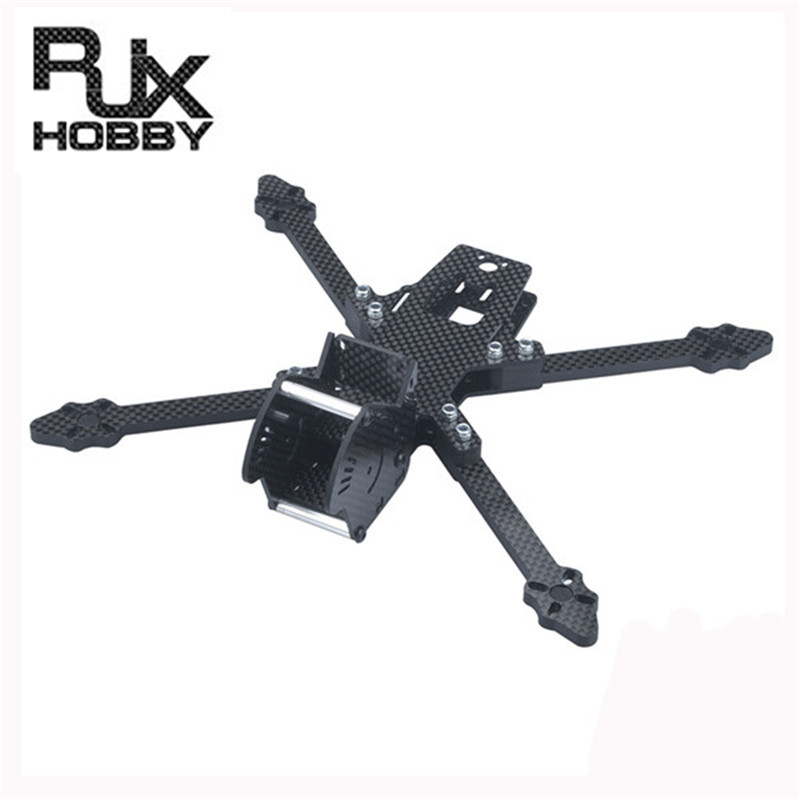 RJX 220mm Wheelbase 5mm Arm Carbon Fiber Drone Frame Kit For RC Models Quadcopter Camera Motor Propeller Spare Part 114g 16pcs 8 pairs 10 blade propeller 1045 brushless motor for qav250 dron drones drone frame parts kit fpv quadcopter frame