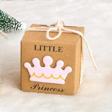 New 50pcs/pack Baby Shower Birthday Party Candy Box Gift Princess Prince Wedding Favor Decoration
