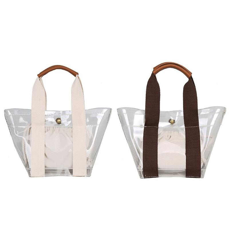 Casual Composite Bag Clear PVC Women Shopping Handbags Jelly Transparent Plastic Summer Beach tote Bags Europe Tote Bag Сумка
