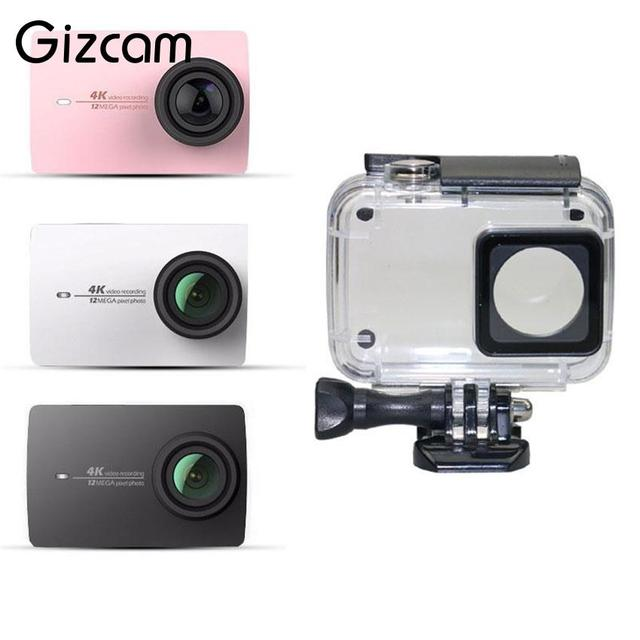 Gizcam Underwater Waterproof Case Shell for Xiaomi Yi 2 4K Swiming Snorkeling Protective Shell Sports Camera Accessories
