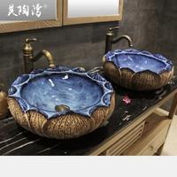 Counter basin ceramic wash basin vintage wash basin personalized stone pots