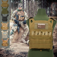 Outdoor Hunting JPC Vest Amphibious Multi Pockets Military Plate Carrier Vest Airsoft Paintball Combat Molle Tactical Vest