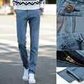 Mens Slim Fit Jeans 2016 New Arrivals Fashion Denim Blue Jeans Pants Casual Coated Long Trousers Free Shipping 01Y833