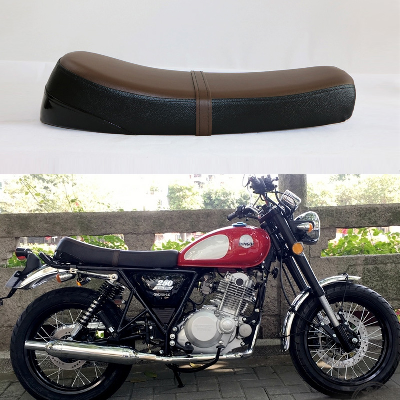 Cafe Racer  Motorcycle Modified Seat Cushion Seat Covers Saddle Cushion Long 64CM modified motorcycle brat flat seat retro cafe racer seat locomotive refit motorcycle saddle with seat hoops lights