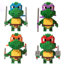 LOZ Ninja Turtles Four Brothers Model Micro Size Diamond Bouwstenen Action Figure Speelgoed Bricks Educatief Speelgoed Voor Kinderen