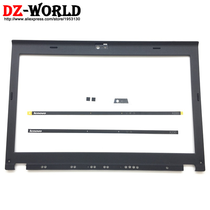 New Original LCD Front Shell Bezel Cover For ThinkPad X220 X230 W/ LED Light Indicator Camera Plate Screw Covers 04W2186 04Y1854