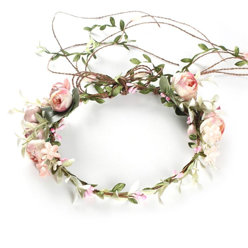 Rose Flower Head Boho lot Girl Beach Crown Elastic Hair Band Headband Wedding