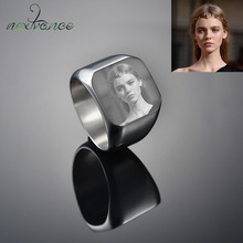 Signet-Ring Biker-Jewelry Engrave Name Photo Customized Nextvance Gift for Bague Homme