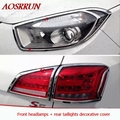 car-styling special decoration ABS Car Headlight covers Rear light Auto car Accessories for Jac refine s5 2013 2014 automobiles