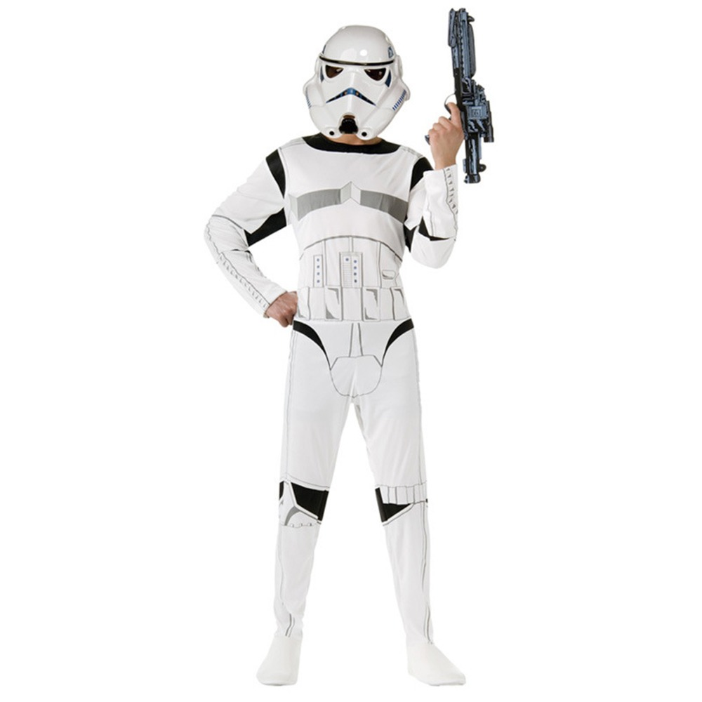 Star Wars Costume The Force Awakens Storm Troopers Cosplay With Mask Halloween Costume For Kids Carnival Party