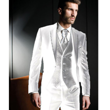 Latest Coat Pant Designs Men Suits Groom Tuxedos Wedding Suit Evening Party Jacket Pants Vest Male Blazer costume homme terno