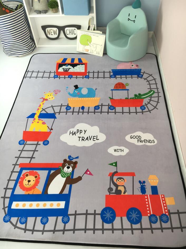 Tapis de jeu rampant épais de bébé, tapis éducatif de jeu d'alphabet pour des enfants activité de Puzzle tapis de gymnastique Eva mousse jouet d'enfant 150x195