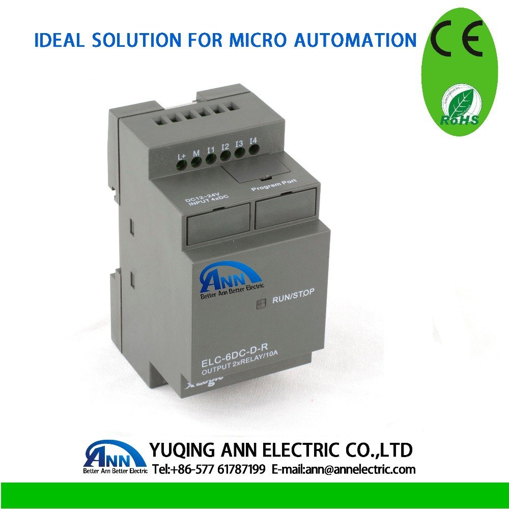 ELC-6DC-D-R without cable cheaper PLC,smart relay,Micro PLC controller , CE ROHS elc динозавр ти рекс
