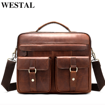 9e20581e079d Product Offer. WESTAL сумка Мужская натуральная кожа мужской портфель для  ноутбука ...