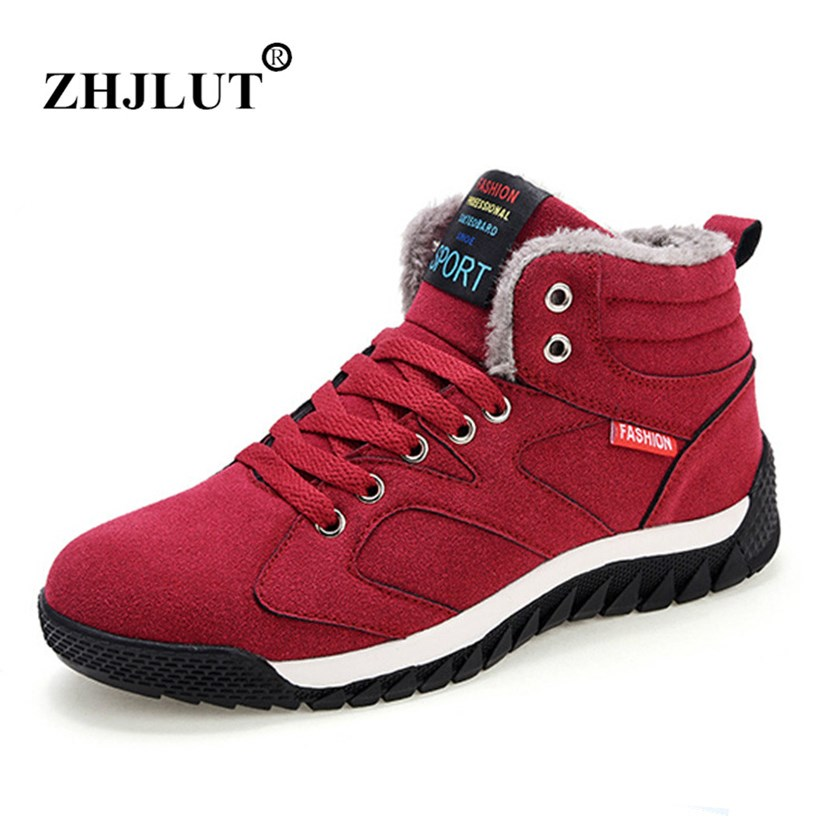New Outdoor Hiking Shoes Woman font b Boots b font Winter Plush Warm Snow font b