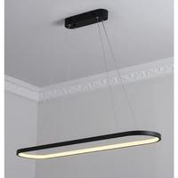 Black White Modern Led Chandelier For Dining Room Bar Kitchen Room Oval Shape Chandelier Lighting Fixtures