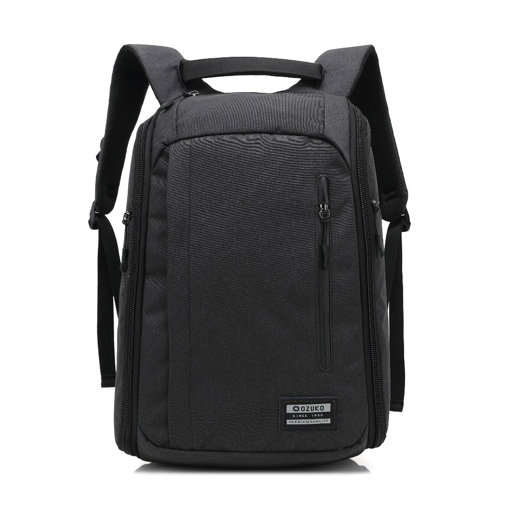 Ozuko Nylon Laptop Backpack For Macbook Air Pro Retina Surface Book 11 12 13 14 15inch Men Women Travel Waterproof Notebook Bag