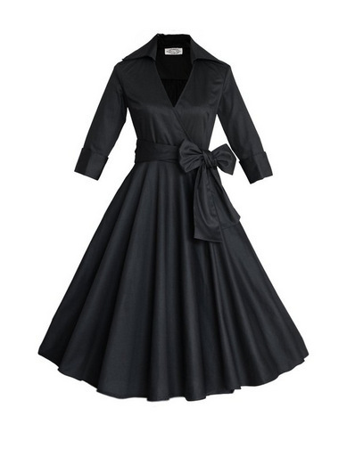 Woman Style Formal Dress 34 Sleeve Autumn 50s Dress 60s Clothing
