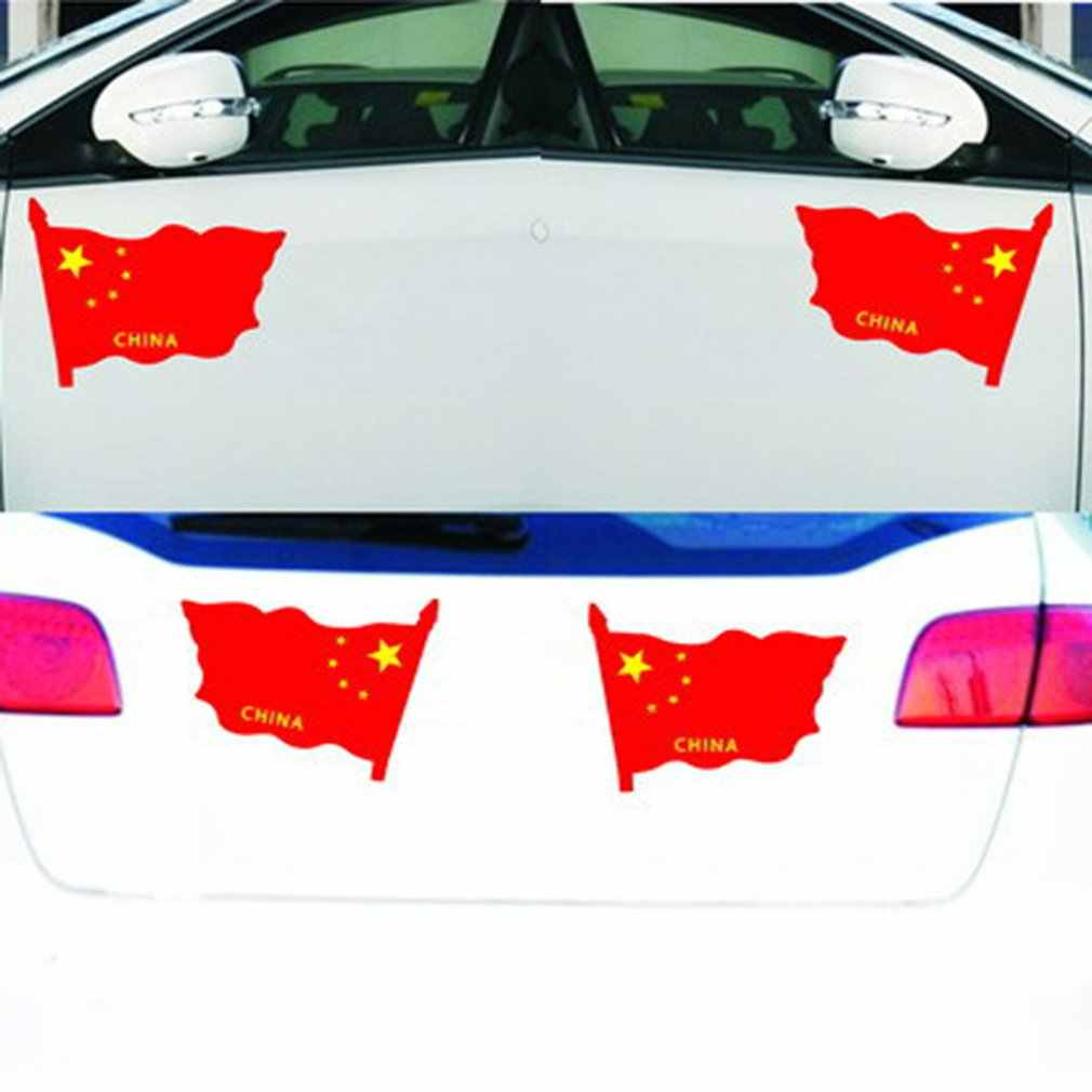 Kırmızı Bayrak Araba Çıkartmaları Küçük Bayrak Direği Kırmızı Bayrak Çıkartmaları Araba Vatansever Araba Çıkartmaları Çin Bayrak Araba Sticker Sıcak
