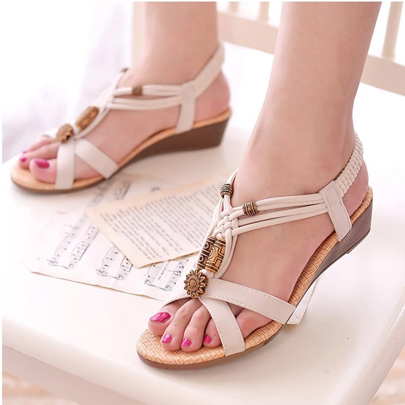 da72aa75ea0d Women shoes stylish new hot women sandals 2018 All match fashion summer  shoes wedge heels ladies shoes sandals women -in Middle Heels from Shoes on  ...