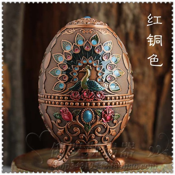 Peacock Painted Toothpick Box Embossed Snap Type Automatic Toothpick Egg Shaped Toothpick Holder Barrel Table Decoration