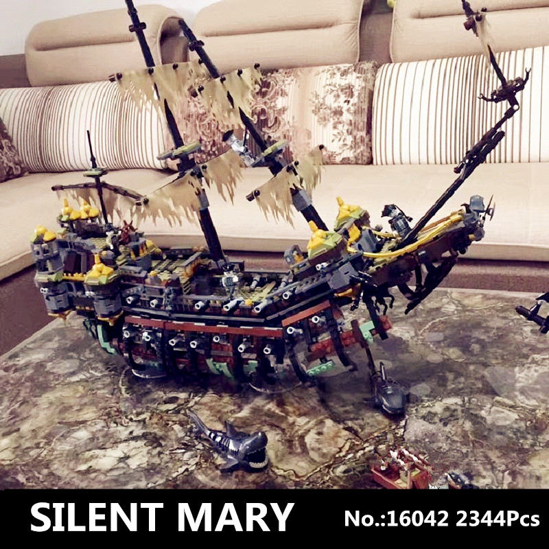 IN STOCK Lepin 16042 2344PCS Movie Series Pirate Ship The Slient Mary Set Children Educational Building Blocks Bricks Toy Model lepin 16002 22001 16042 pirate ship metal beard s sea cow model building kits blocks bricks toys compatible with 70810