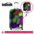 Dispalang circular pintura maleta del viaje del equipaje trolley cubierta diseño característico de espesor elástico cubre protector para las mujeres