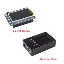 Haute Qualité Raspberry Pi 3 Modèle B 2.2 pouce TFT Écran LCD Display + En Aluminium Box Case Boîtier pour Raspberry Pi 2