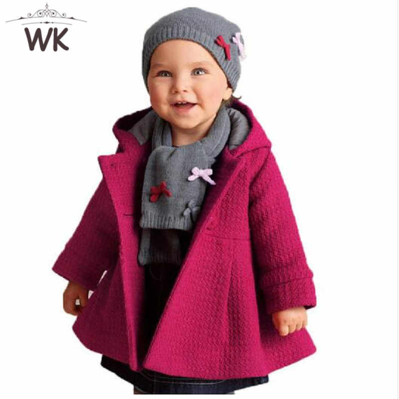 Jw-176 2019 children coat girls winter pink coat children jackets casual baby clothing kids jackets coats baby coat for girls