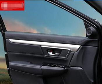 Luxurious ABS Chrome The interior door of the car is decorated with decorative strips For Honda CRV 2017