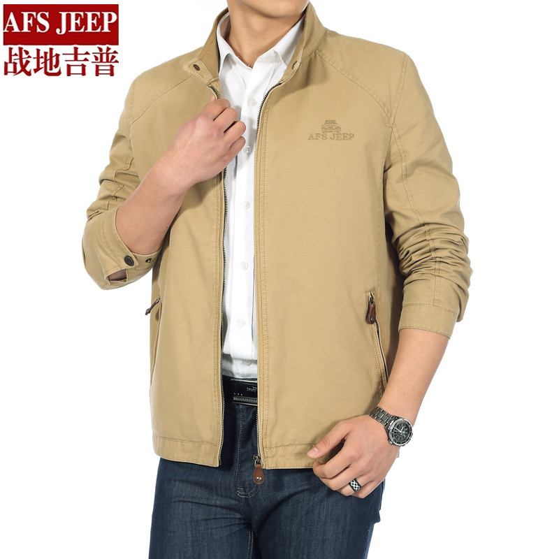 Brand High quality Men Battlefield Jacket Coat 100% Cotton Fit Type Mens Autumn Casual Big Size Jacket Business Jacket 2802