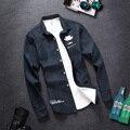 Мужчины Рубашка 2016 Новый Зима Мужчины Повседневная Твердые теплый Вельвет Теплые Рубашки Мужчины Твердые Теплые Рубашки M-3XL бесплатная доставка