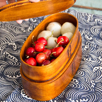Hot Sale 2 Layers Wood Lunch Box Japanese Sushi Bento LunchBox Portable Food Container Fruits Storage